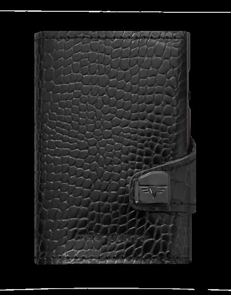 Portemonnaie Click & Slide Croko Black
