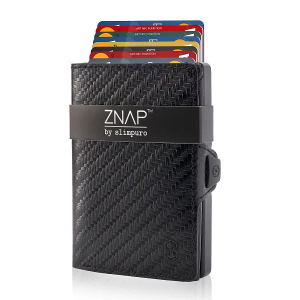 ZNAP Slim Wallet Carbon 8er