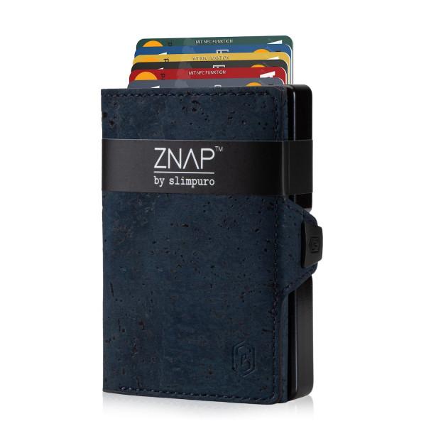 ZNAP Slim Wallet Kork Dark Blue 8er
