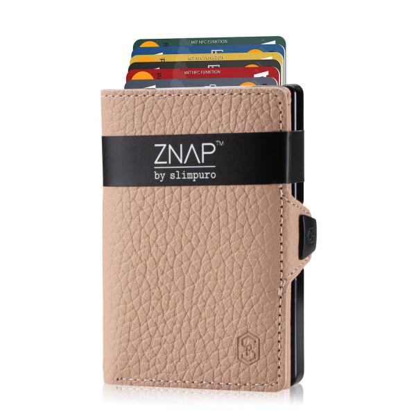 ZNAP Slim Wallet Genarbt Creme 12er