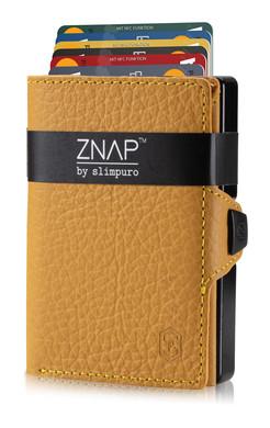 ZNAP Slim Wallet Genarbt Gelb 12er