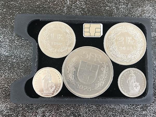 SLIMPURO ® Coin Case CoinCard - Universales Münzfach