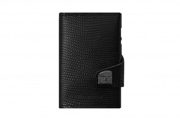 Portemonnaie Click & Slide Black Iguana