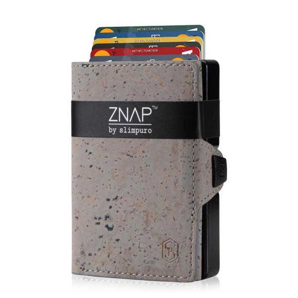 ZNAP Slim Wallet Kork Grey 12er