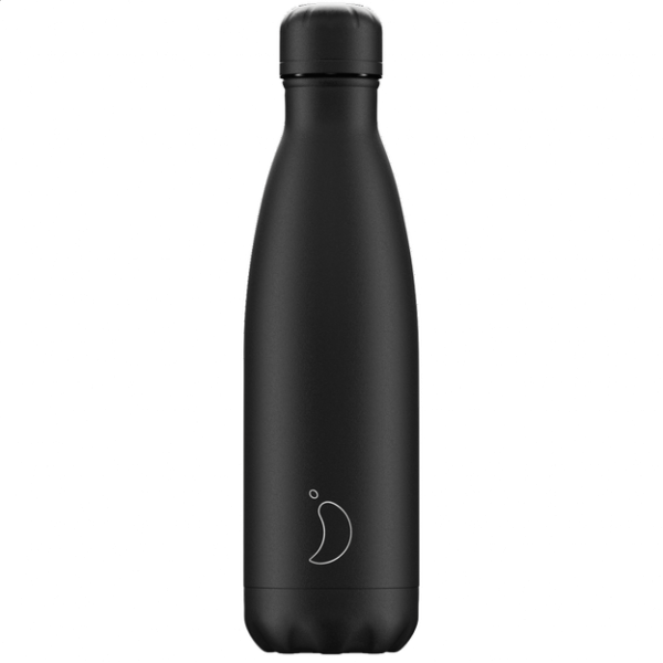 Chilly's Bottle 500ml Monochrone All Black