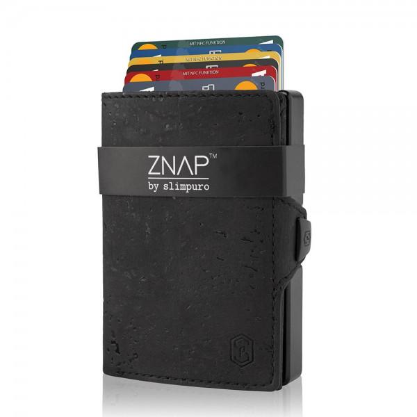 ZNAP Slim Wallet Kork Schwarz 12er