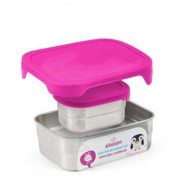 Edelstahl Brotdosen-Set Lila 2er SET BPA-frei