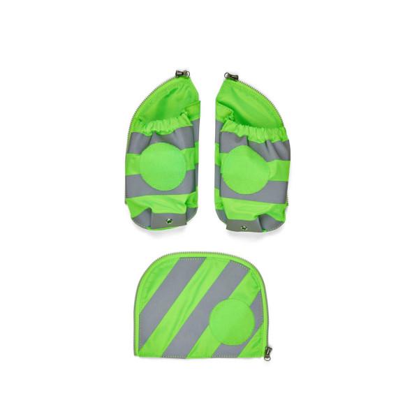 Ergobag pack & cubo Seitentaschen Zip-Set mit Reflekor grün ab Mod. 20