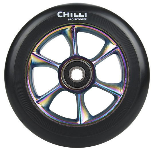 Chilli Turbo Wheel 110mm Schwarz/Neochrome