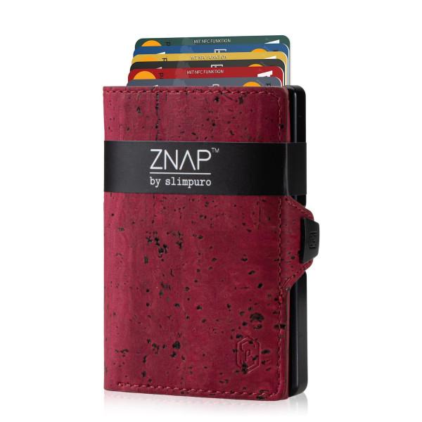 ZNAP Slim Wallet Kork Red 12er