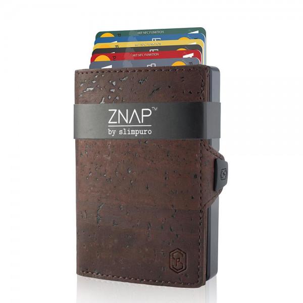 ZNAP Slim Wallet Kork Braun 12er