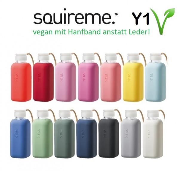 "Squireme Y1 0.6 L Trinkflasche ""go vegan"""